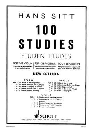 Hans Sitt - 100 studi su op. 32 - Libro 4 - Partition - di-arezzo.it