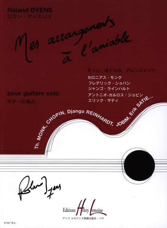 Roland Dyens - My amicable arrangements - Partition - di-arezzo.com