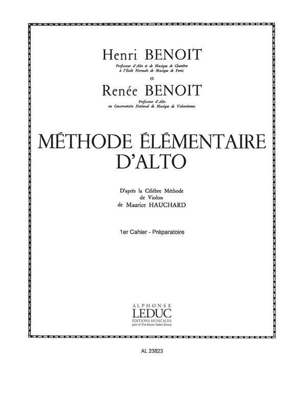 Benoit Henri / Benoit Renée - Alto Volume Elemental Method 1 - Partition - di-arezzo.co.uk