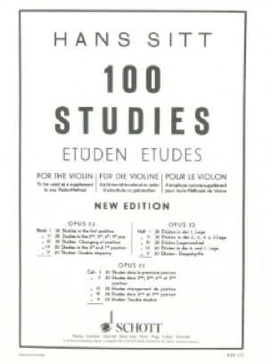 Hans Sitt - 100 studi su op. 32 - Libro 5 - Partition - di-arezzo.it