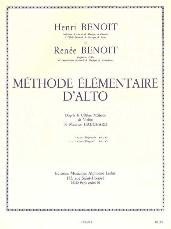 Benoit Henri / Benoit Renée - Basic Viola Method - Volume 2 - Partition - di-arezzo.co.uk