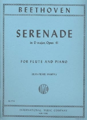 BEETHOVEN - Serenade in D, op. 41 - Rampal piano flute - Partition - di-arezzo.co.uk