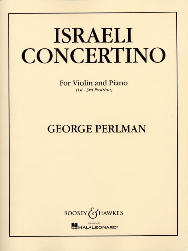 George Perlman - Israeli Concertino - Partition - di-arezzo.co.uk
