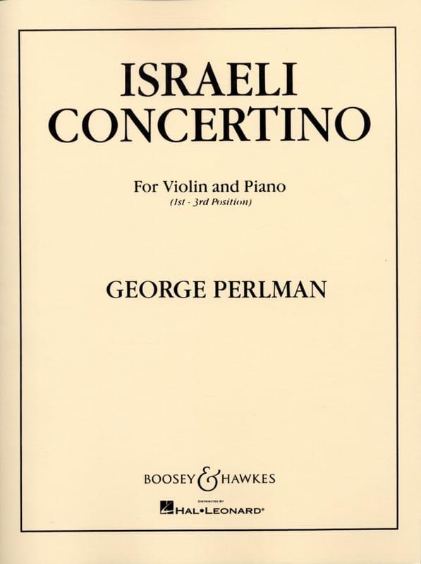 George Perlman - Israeli Concertino - Partition - di-arezzo.com