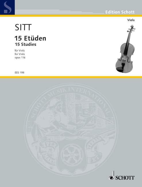 15 Etüden op. 116 - Viola - Hans Sitt - Partition - laflutedepan.com
