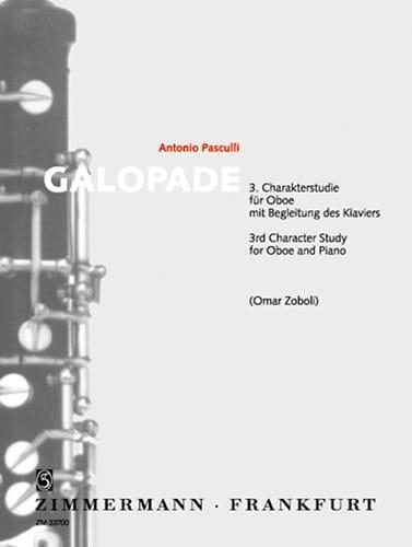Galopade - Antonino Pasculli - Partition - Hautbois - laflutedepan.com