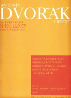 Streichquintett in G-Dur op. 77 -Stimmen - DVORAK - laflutedepan.com