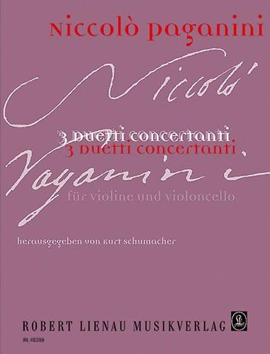 Niccolò Paganini - 3 Duetti concertanti - Partition - di-arezzo.co.uk