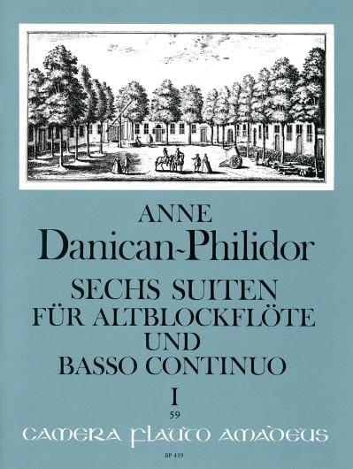 Anne Danican-Philidor - 6 Suiten Volume 1 - Partition - di-arezzo.fr