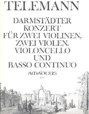 Darmstädter Konzert -2 Violinen 2 Violen Violoncello Bc - laflutedepan.com