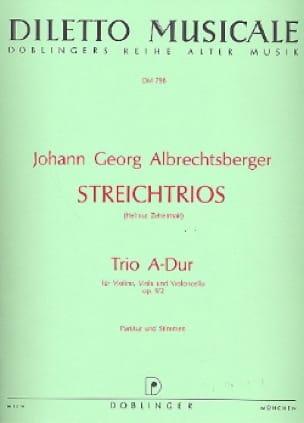 Johann Georg Albrechtsberger - Trio A-Dur op. 9 n° 2 -Partitur + Stimmen - Partition - di-arezzo.fr