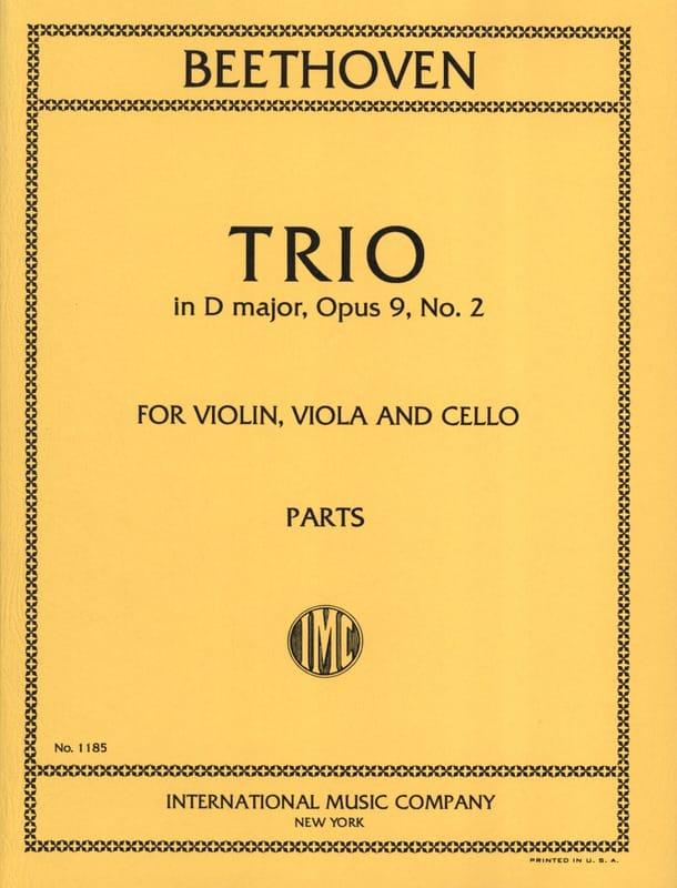 Trio op. 9 n° 2 D major -Parts - BEETHOVEN - laflutedepan.com