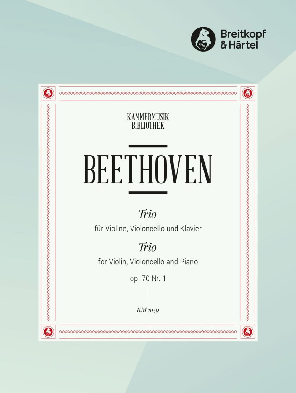 BEETHOVEN - Klaviertrio op. 70 n ° 1 D-Dur - Partition - di-arezzo.co.uk