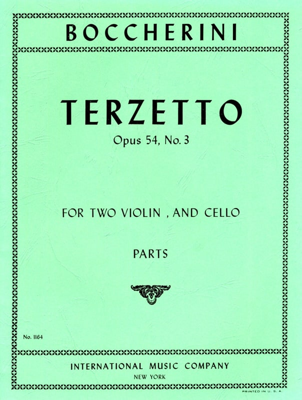 BOCCHERINI - Terzetto op. 54 n ° 3 - Parts - Partition - di-arezzo.co.uk