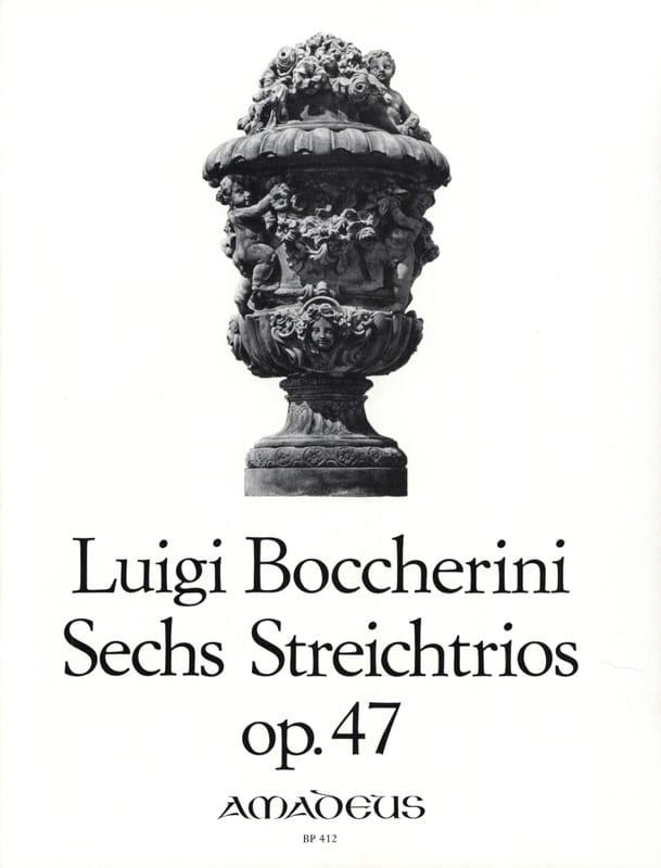 BOCCHERINI - 6 Streichtrios op. 47 - Stimmen - Partition - di-arezzo.co.uk