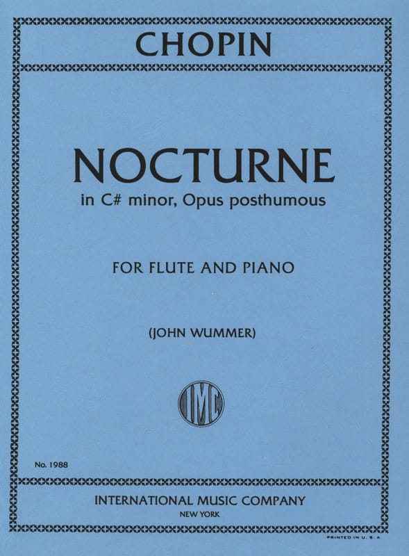 CHOPIN - Nocturne in C - Partition - di-arezzo.co.uk