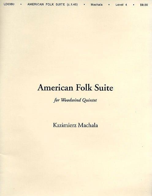 American Folk Suite - Kazimierz Machala - Partition - laflutedepan.com