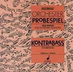 Orchester Probespiel CD - Kontrabass - laflutedepan.com