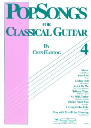 Cees Hartog - Pop Songs for Classical Guitar Volume 4 - Partition - di-arezzo.com