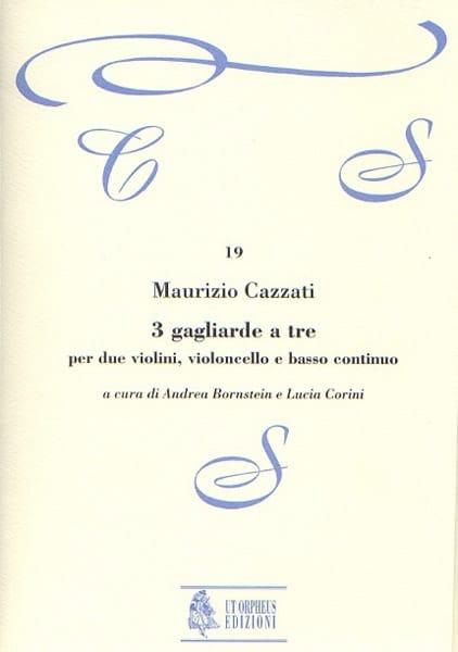 Maurizio Cazzati - 3 Gagliarde to be - Conductive parts - Partition - di-arezzo.com