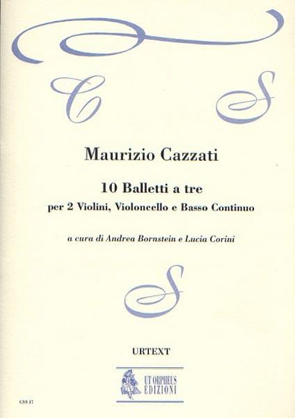 Maurizio Cazzati - 10 Balletti a tre - Driver parts - Partition - di-arezzo.com