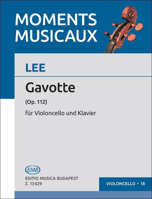 Sebastian Lee - Gavotte op. 112 - Partition - di-arezzo.com