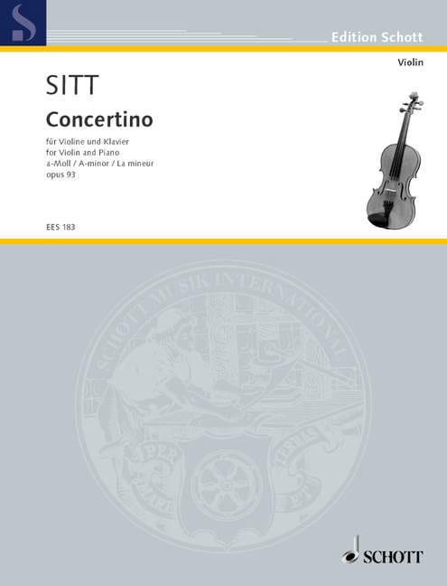 Hans Sitt - Concertino A-Moll op. 93 - Partition - di-arezzo.co.uk