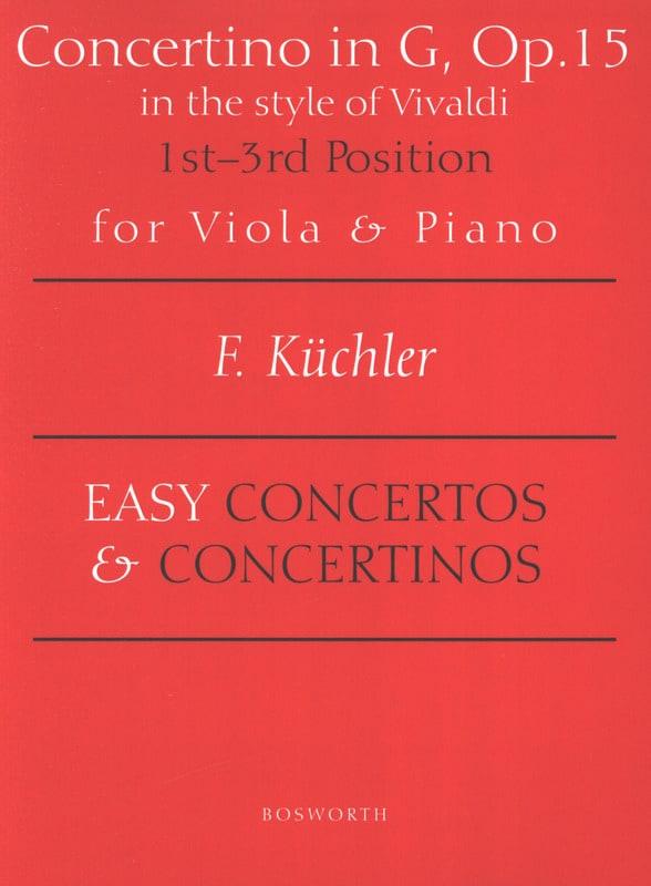 Ferdinand Küchler - Concertino Solo Opus 15 - Alto - Partition - di-arezzo.com