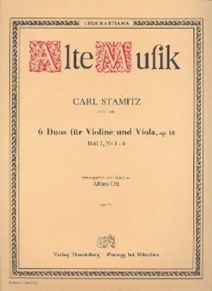 Carl Stamitz - 6 Duos für Violine und Viola op. 18 - Heft 1 Nr. 1-3 - Partition - di-arezzo.de
