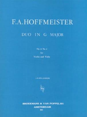 Duo in G major op. 13 n° 6 - HOFFMEISTER - laflutedepan.com
