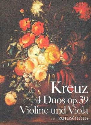 4 Duos op. 39 - Violine und Viola - Emil Kreuz - laflutedepan.com