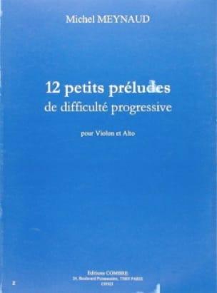 12 Petits préludes - Michel Meynaud - Partition - laflutedepan.com