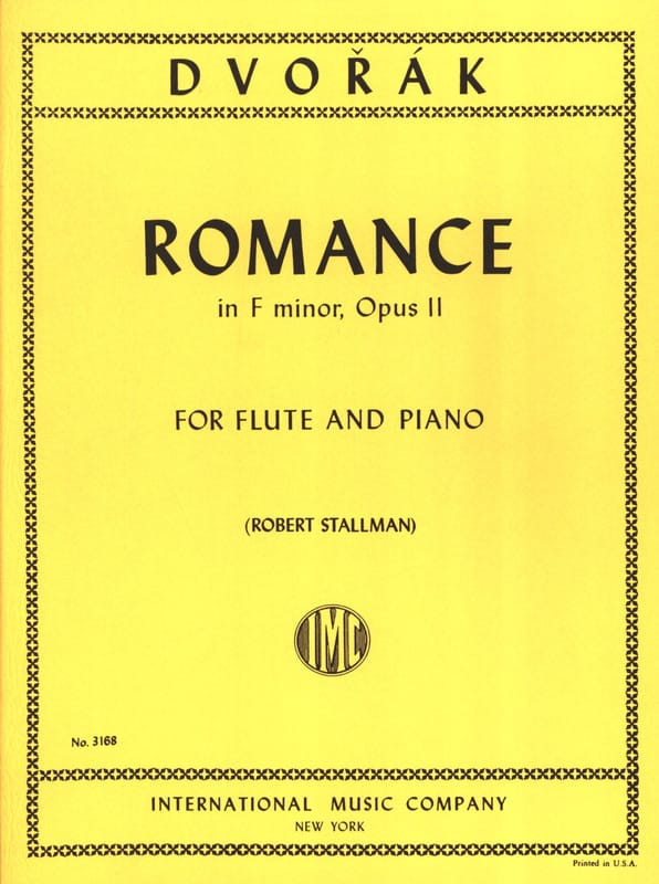 DVORAK - Romance in F major op. 11 - Flute piano - Partition - di-arezzo.co.uk