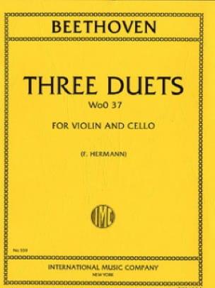 BEETHOVEN - 3 Duets WoO 37 - Violonchelo Violín - Partition - di-arezzo.es