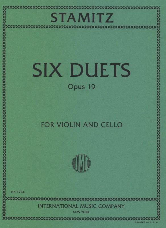 6 Duets op. 19 - STAMITZ - Partition - 0 - laflutedepan.com