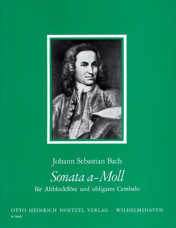Sonate en la Min. - BACH - Partition - Flûte à bec - laflutedepan.com