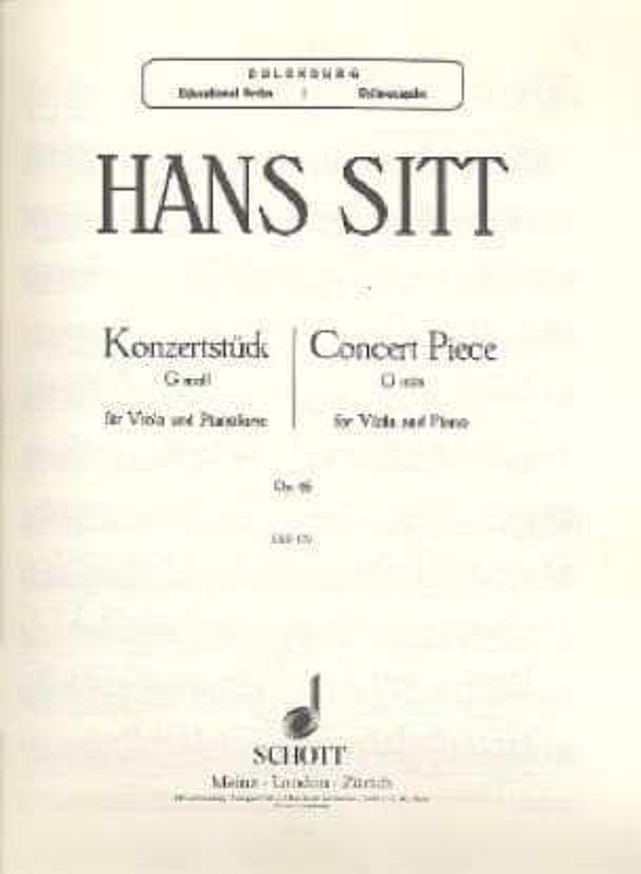 Hans Sitt - Konzertstück G moll op. 46 - Partition - di-arezzo.co.uk