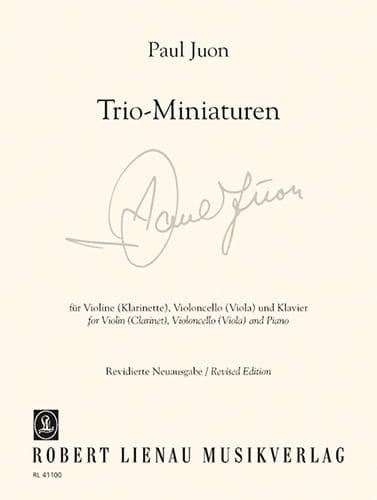 Trio - Miniatures Op. 18 N° 3, 6, 7 et Op. 24 N° 2 - laflutedepan.com