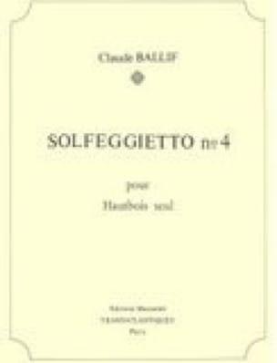 Solfeggietto n° 4 - Hautbois - Claude Ballif - laflutedepan.com