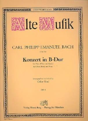 Carl Philipp Emanuel Bach - Konzert in B Hard - Oboe Flöte Klavier - Partition - di-arezzo.co.uk