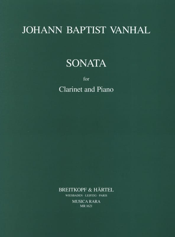 Johann Baptist Vanhal - Sonata in B flat major - Piano Clarinet - Partition - di-arezzo.co.uk