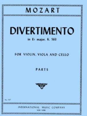 MOZART - Divertimento in Eb major KV 563 - Parts - Partition - di-arezzo.co.uk