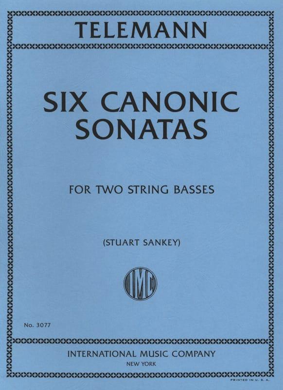 6 Canonic Sonatas - 2 Double basses - TELEMANN - laflutedepan.com