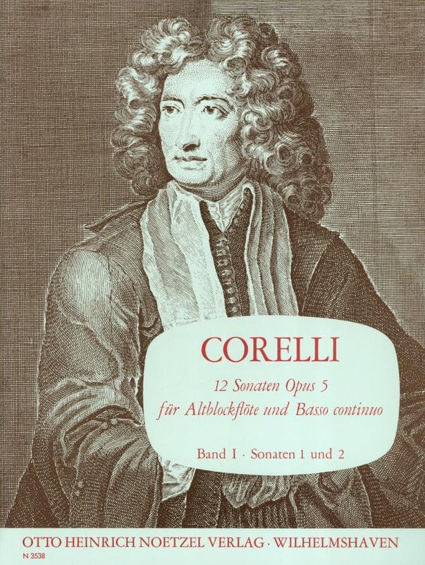 CORELLI - 12 Sonaten op. 5 - Bd. 1 - Altblockflöte u. bc - Partition - di-arezzo.es