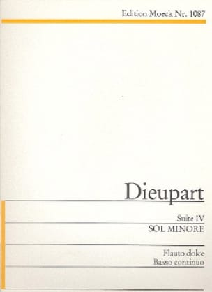 Charles François Dieupart - Suite 4 g-Moll - Partition - di-arezzo.fr