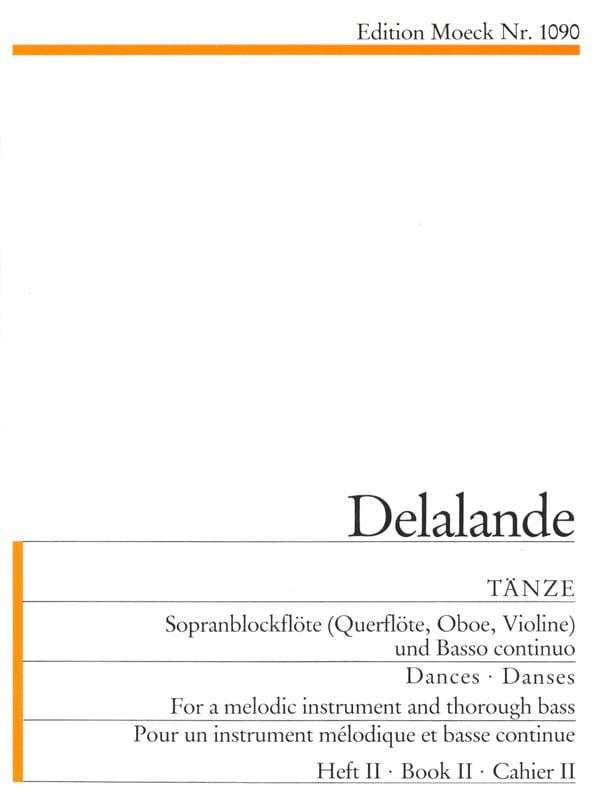 Tänze - Heft 2 - DELALANDE - Partition - laflutedepan.com