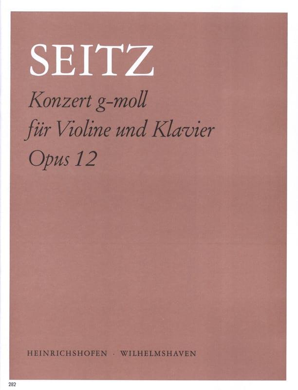 Friedrich Seitz - Konzert g-moll op. 12 - Partition - di-arezzo.fr