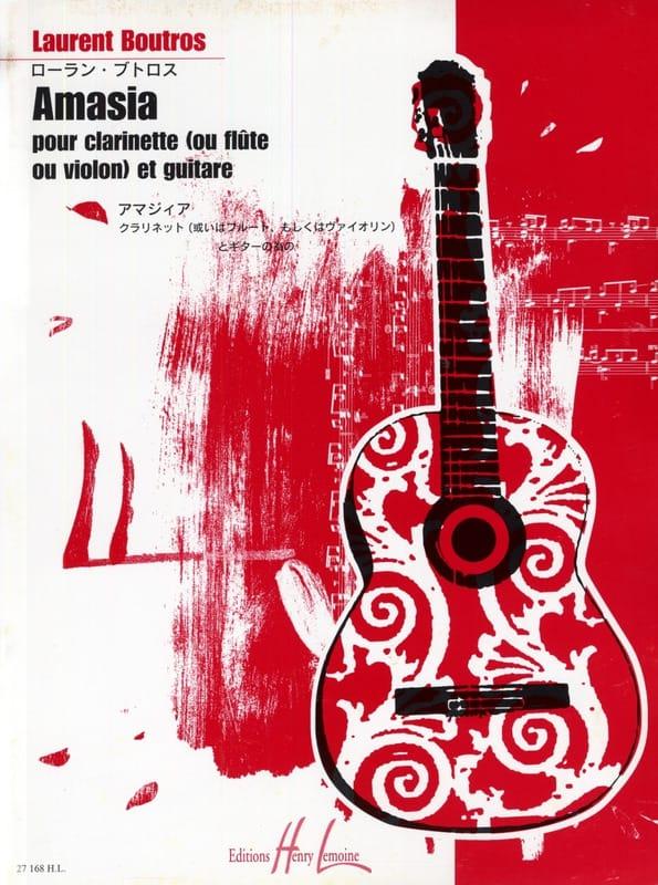 Amasia - Laurent Boutros - Partition - Quatuors - laflutedepan.com
