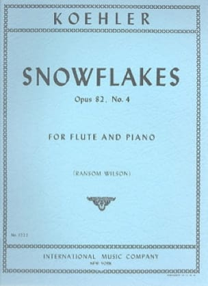 Ernesto KÖHLER - Snowflakes op. 82 n ° 4 - Partition - di-arezzo.co.uk