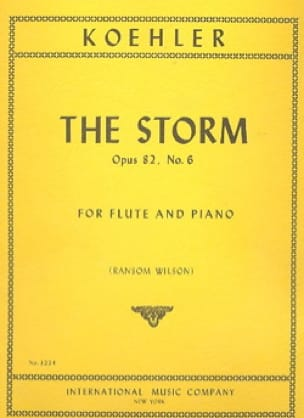 Ernesto KÖHLER - The Storm op. 82 n° 6 - Flute piano - Partition - di-arezzo.fr